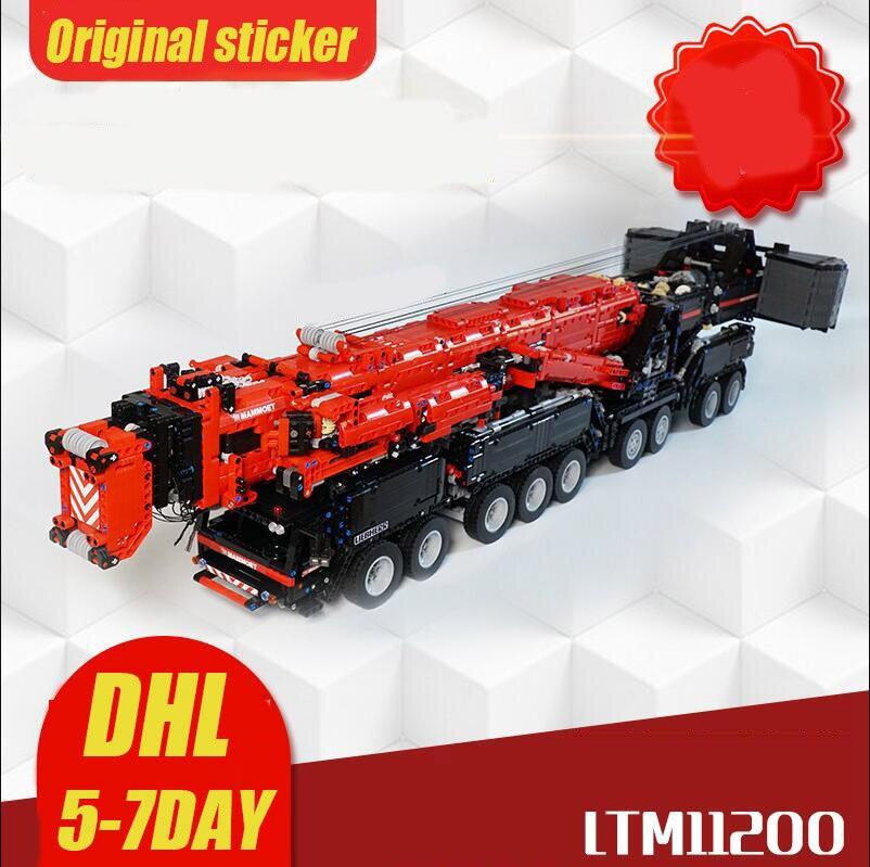NEW Power Mobile MOC-20920 Liebherres LTM 11200 Large Engineering Crane Remote Control Building Blocks Toys Boy Gifts 1