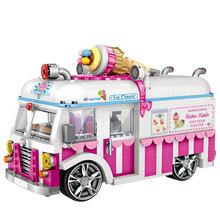 Disney city vehicle mini diamond building block грузовик с мороженым