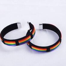 Kpop подростки мальчики Би браслет в виде радуги Браслеты Для женщин мужчин гордость Дружба Ювелирные изделия