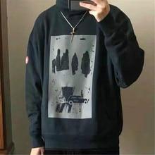 3M Reflection CAV EMPT Hoodie Japan Men Women Streetwear Hip Hop High-necked Sweatshirt 19FW White  Kanye West Cosplay