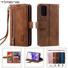 Zipper A52 A72 A51 A71 A41 Case For Samsung Galaxy S21 S20 FE Ultra S10 S9 S8 Plus A82 A22 A12 A32 A50 A40 A30 A10 Leather Cover