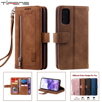 Zipper Wallet A51 A71 A41 Case For Samsung Galaxy S20 FE Ultra S10 E S9 S8 Plus A50 A40 A30 A20 A10 M10 S Leather Phone Cover