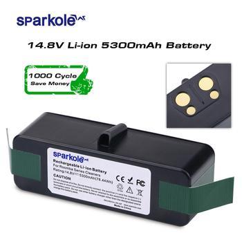 Sparkole 5.3Ah 14.8V Li-Ion Batterij voor iRobot Roomba 500 600 700 800 Serie 510 531 550 560 580 620 630 650 760 770 780 870 880