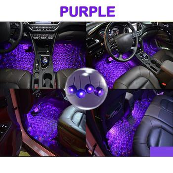 цена на USB Car LED Atmosphere Lamp Sound Control Interior Ambient Star Light Decoration Car interior lights, mood lighting, driver seat