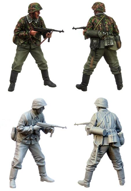 <font><b>1</b></font>/<font><b>35</b></font> <font><b>Resin</b></font> Figures <font><b>German</b></font> Soldier 1pc <font><b>Model</b></font> Kits image