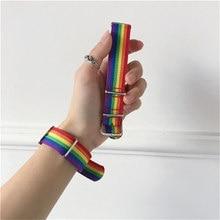 Lgbt Pulsera Regenbogen Lesben Homosexuell Bisexuals Transgender Armbänder für Frauen Mädchen Stolz Woven Geflochtene Männer Paar Schmuck Geschenke