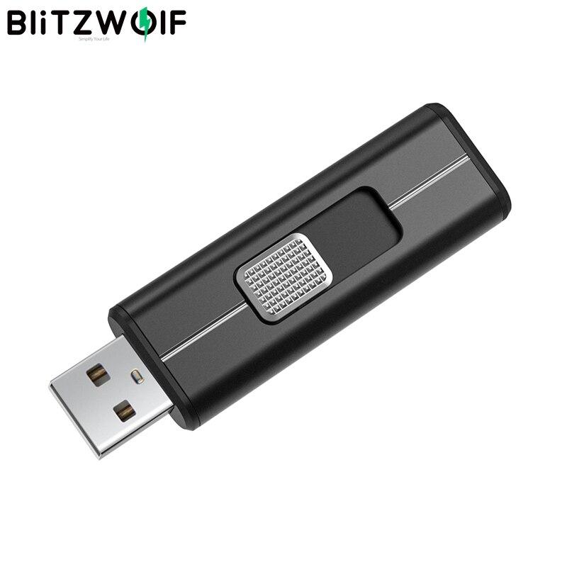 BlitzWolf BW-UP3 USB3.2 Gen 2 lecteur Flash 64/128/256 go lecteur Flash disque mémoire Push-pull 64 go stockage externe lecteur Flash USB