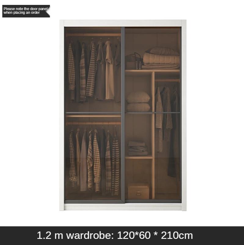 Sliding Door Wardrobe Light Luxury Bedroom Storage Solid Wood Plate Wardrobe Sliding Door Sliding Door Storage Wardrobes Aliexpress