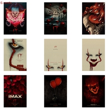 Horror Movie Chapter Two Poster Kraft Paper Decoration Retro Decorative Wall Sticker