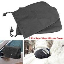 2Pcs Neve Ghiaccio Invernale Impermeabile di Copertura di Alta Qualità Nero Auto Auto Posteriore Vista Laterale Specchio di Gelo Guardia