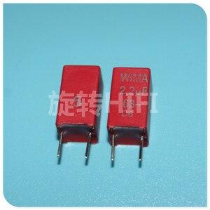 Image 1 - 10PCS אדום חדש WIMA MKS2 63V 2.2UF PCM5 2u2 2200nf 2.2U63V מכירה לוהטת 225/63V