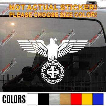 Bundesadler Reichsadler Eagle Iron Cross Decal Sticker WW2 German Army pick size color facing right