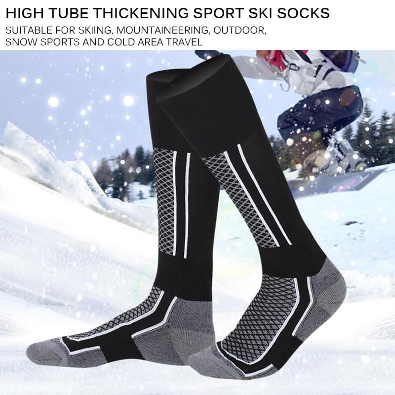 Warm Breathable Snow Sports Socks Women Man Thermal Long Ski Shock Absorption Snow Walking Hiking Socks Winter Ski Sports Socks