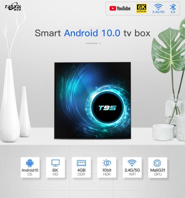 FANXDI 2020 NEW T95 TV Box  Android 10.0  Youtube HD 6K Bluetooth Android TV Box  Smart TV Box Android 10 2.4G/5G WIFI