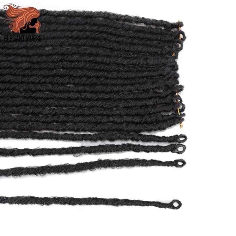 20 Inci Soft Crochet Kepang Jumbo Takut Gaya Rambut Ombre Warna Sintetis Faux Locs Mengepang Rambut Ekstensi