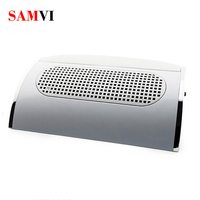 SAMVI 40W 3 Fans Nail Suction Dust Collector Large Size Strong Nail Vacuum Cleaner Machine Low Noisy with 2 bags Salon Tool