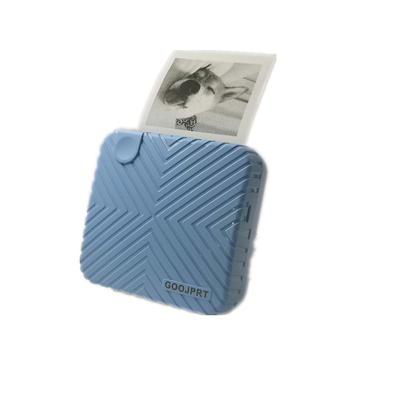 2020 New Arrival P6 mini thermal bluetooth photo printer for mobile blue