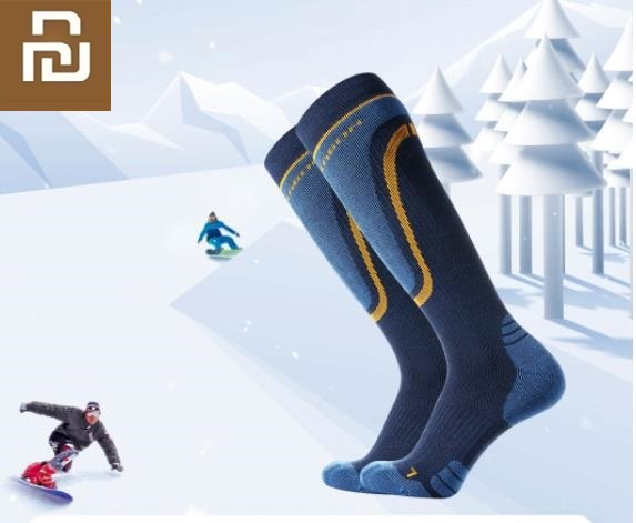 Youpin Knee High Socks Profession Ski Skating Sports Wool Socks Keep Warm Breathable Long Tube Leg Socks