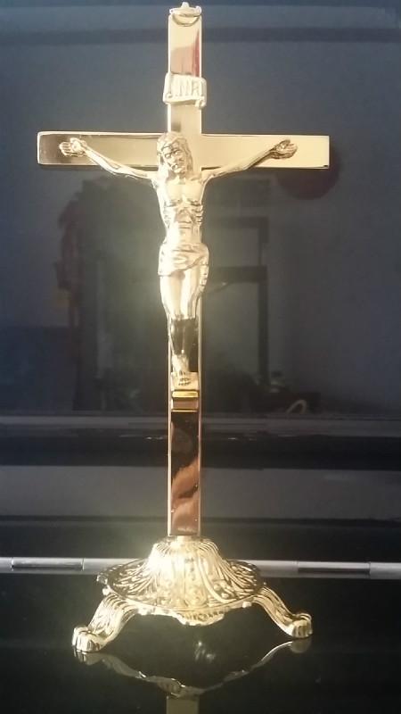 Croix sainte chrétienne catholique de jésus commerce plaqué or brillant pendentif crucifix ornements
