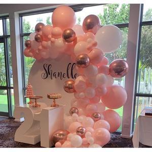 Image 3 - 101 DIY balonlar Garland kemer seti gül altın pembe için beyaz balon bebek duş gelin duş düğün doğum günü partisi süslemeleri
