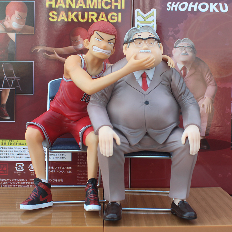 Anime Slam Dunk GK Model Shohoku Head Coach Anzai And Hanamichi Sakuragi Pvc Figure Toys