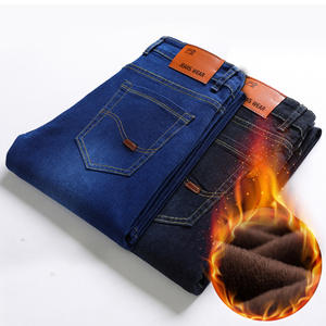 CHOLYL Warm Jeans Long-Trouser Fleece Thicken High-Quality Famous-Brand New Autumn Men