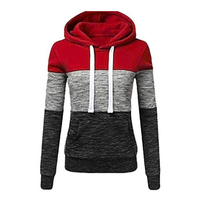 Fashion Patchwork Hoodies Sweatshirts Women Casual Pullover Tops Jumper Hooded Sweatshirt Female Streetwear Hoodie Sudadera