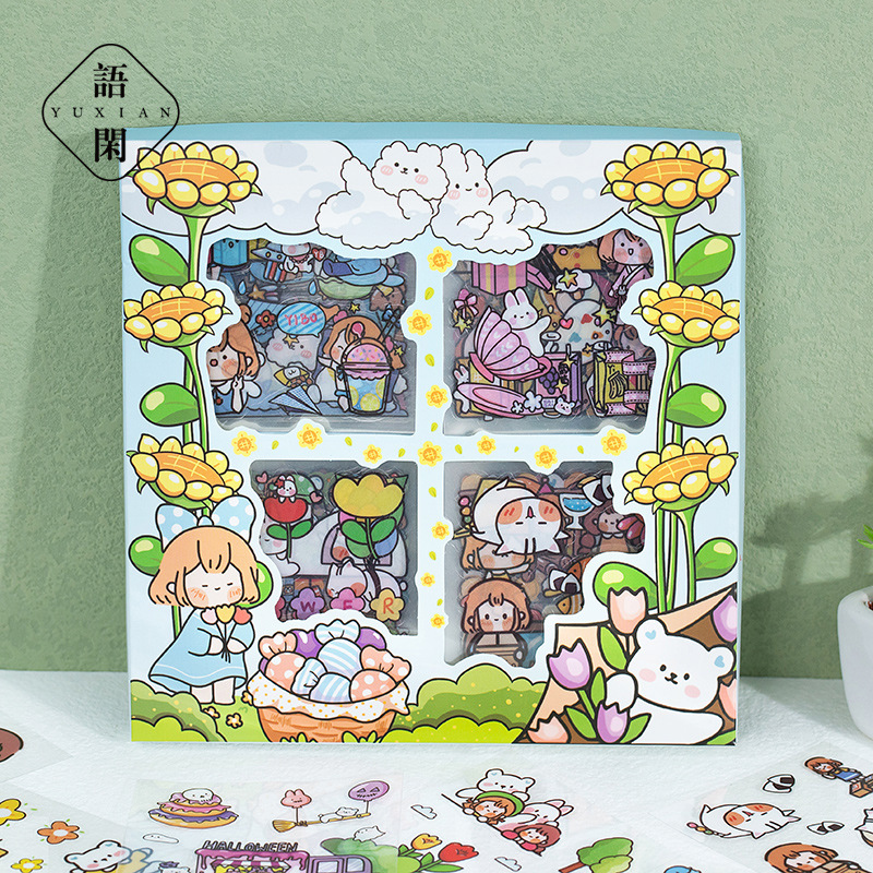5sets Kawaii Stationery Stickers  Really small garden series  Planner Decorative Mobile Stickers Scrapbooking ֽ