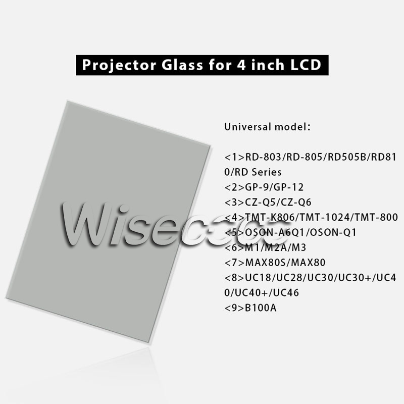 for <font><b>Unic</b></font> UC40 <font><b>UC46</b></font> Rigal thermal-isolating glass polarizer glass 96*60*1.2mm for 4 inch lcd diy led projector repair parts image