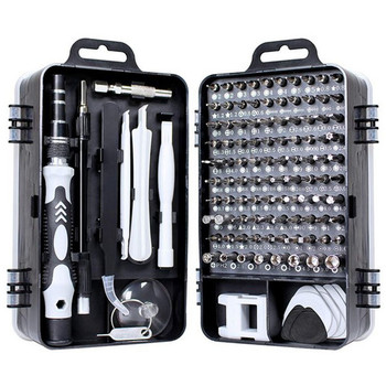 цена на 115 In 1 Screwdriver Set Multi-function Manual Repair Tool Box Home Multi-use Repair Mobile Phone Computer Disassembly Tool Box