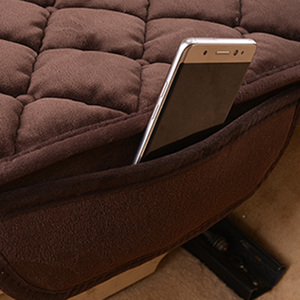 Image 4 - Assento de carro covas protetor esteira auto almofada do assento traseiro caber a maioria dos veículos antiderrapante manter quente inverno veludo de pelúcia volta almofada do assento
