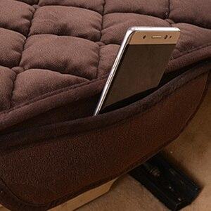 Image 4 - Foteliki samochodowe mata ochronna Auto poduszka na tylne siedzenie pasuje większość pojazdów antypoślizgowe utrzymuj ciepło zima plusz aksamit powrót poduszka na siedzenie