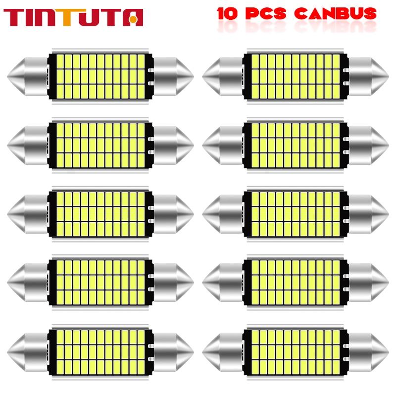 Festão 31mm 36mm 39mm 41mm alta qualidade super brilhante lâmpada led c5w c10w luz da placa de licença do carro auto interior leitura cúpula lâmpada