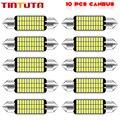Гирлянда 31 мм, 36 мм, 39 мм, 41 мм, высококачесветодиодный сверхъяркая Светодиодная лампа C5W C10W для освесветильник номерного знака автомобиля, в...