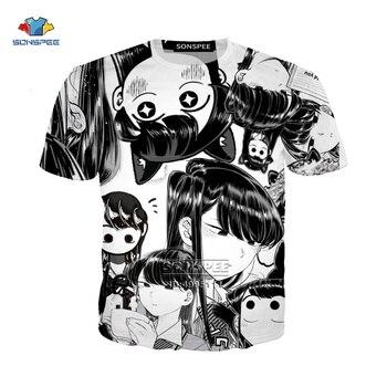 Novelty 3D Printed t-shirt Anime Kawaii Girl Komi-san Many Faces  Tee shirt men clothing harajuku graphic T-shirts Mens Womens