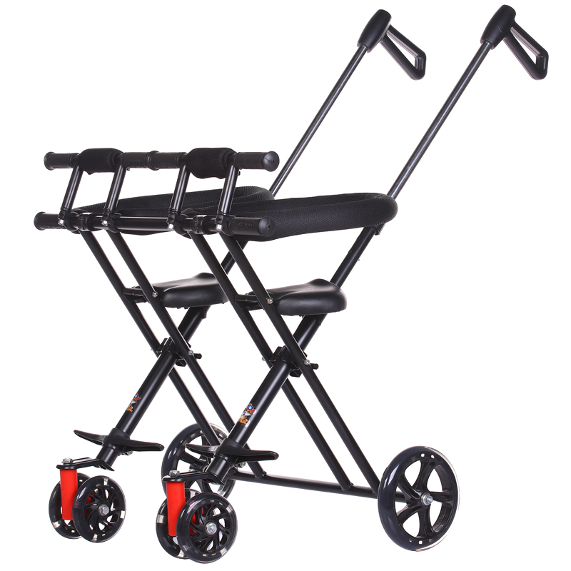 Twin Fetal Tricycle Male Yo-yo Baby Double-handed Cart Folding Portable Baby With Baby Out Of The Door Artifact