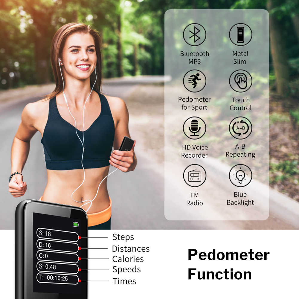 Deelifeスポーツを実行するためのMP3 プレーヤーbluetooth fmラジオ受信機のスピーカー 8 ギガバイトスポーツmp 3 音楽プレーヤー
