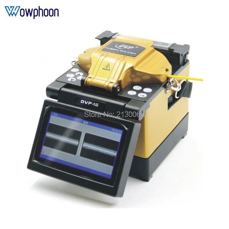 DVP-16 Высокое качество волокна fusion splicer английское меню FTTH машина для сращивания оптического волокна