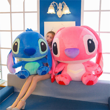 20-65cm Giant Cartoon Kawaii Stitch Plush Doll Anime Lilo And Stitch Toy Kids Stuffed Pillow For Birthday Christmas Kids Gifts куртка женская oodji ultra цвет темно бежевый 10203059 1 32754 3500n размер 36 42 170