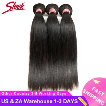 Eleganckie proste brazylijskie włosy wyplata zestawy Deal Human do przedłużania włosów sprzedawcy 8 do 28 30 Cal nie Remy 1 3 4 wiązki ludzkich włosów tanie i dobre opinie Sleek Nie remy włosy = 5 Brazylijski włosy Ciemniejszy kolor tylko Kwas przetwarzania Tkactwo Ludzki włos Maszyna wątek dwukrotnie