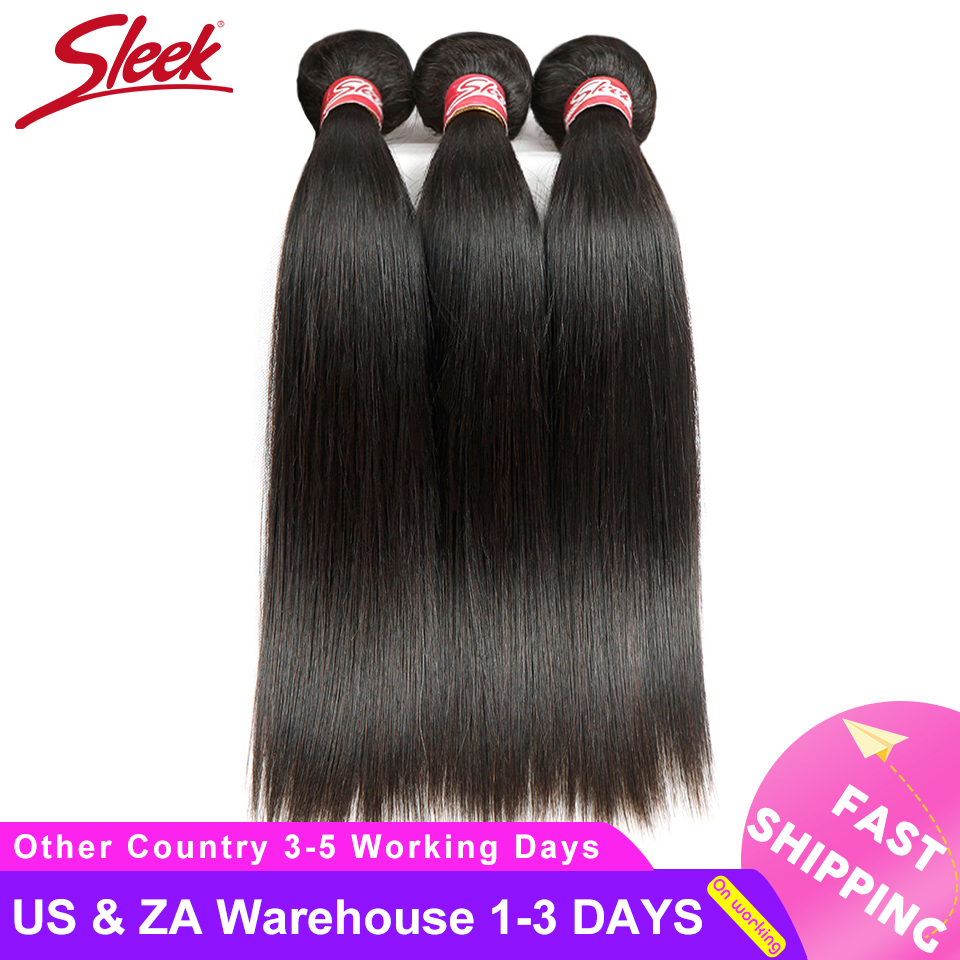 Sleek Straight Brazilian Hair Weave Bundles Deal Human Hair Extension Vendors 8 To 28 30 Inch Non-Remy 1/3/4 Human Hair Bundles