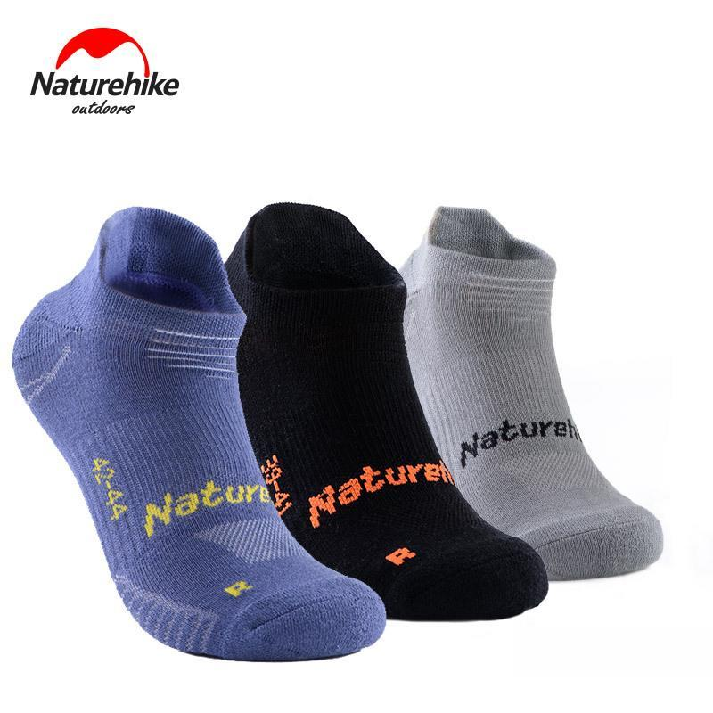 Naturehike 3 Pair Anti Slip Sports Socks Men Women Sports Socks Breathable Sweat-absorbing Quick-drying Outdoor Walk Run Socks