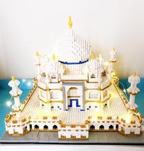 цена на 3950pcs Micro Small Particles Diamond Building Blocks Educational Toy Adult 9914 Taj Mahal Architecture Model For Block Toys