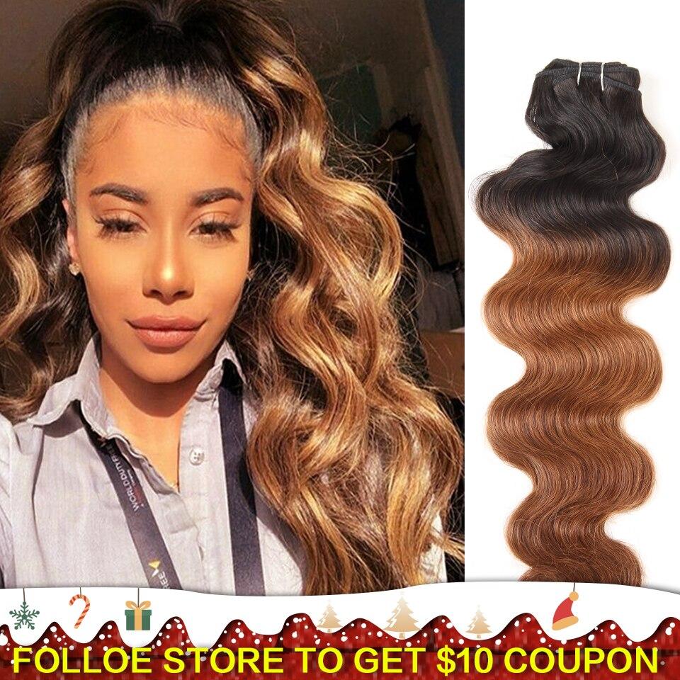 Joedir Brazilian Remy Human Hair Weave Body Wave Color Piano Color Ombre Color Blonde Hair Bundles 113g/pc Double Drawn