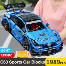 1 to 8 ratio Children's building blocks toy Compatible MOC 6687 technic Mercedes-Benzs AMG C63 Car model Bricks toys