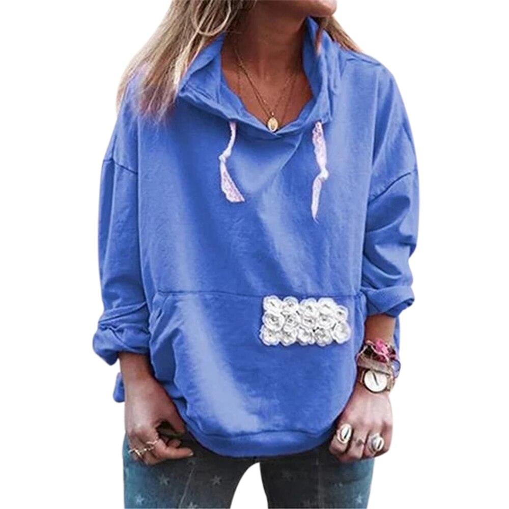 Leisure Long Sleeve Hooded Womens Sweatshirt Tops Pullover Hoodies Women Loose Sweatshirt Soft Korean Style Ladies Coat Oversize
