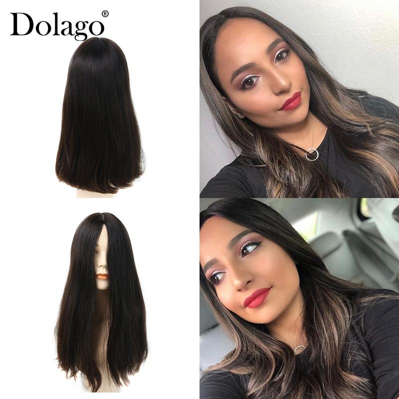 Silk Base Lace Front Human Hair Wigs Jewish Wig Kosher European Virgin Hair Unprocessed Women Double Drawn Lace Wig Dolago Hair