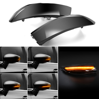 цена на LED Side Wing Rearview Mirror Lamp Flowing Turn Signal Light 2PCS Dynamic Indicator Blinker Light for Ford Fiesta 08-17