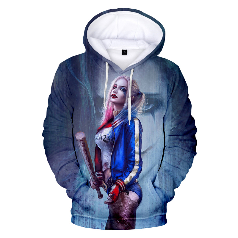 2020 New Movie Harley Quinn 3D Printed Hoodie Sweatshirts Men Women Fashion Casual Pullover Birds of Prey Harajuku Cool Hoodies