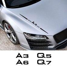 Pegatina embellecedora de cuerpo entero para coche, calcomanía de película de vinilo para AUDI A3 8P S3 8V A4 B8 B6 A6 C5 Q2 Q3 Q5 Q7 Q8 TT SPORT TTS, accesorios para automóviles